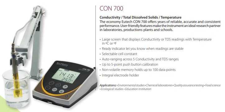 CON 700 - máy đo độ dẫn để bàn
