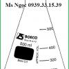 Bình tam giác cổ hẹp Boeco